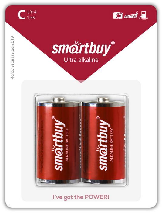 Батарейка алкалиновая Smartbuy LR14-2BL (C 1,5V)