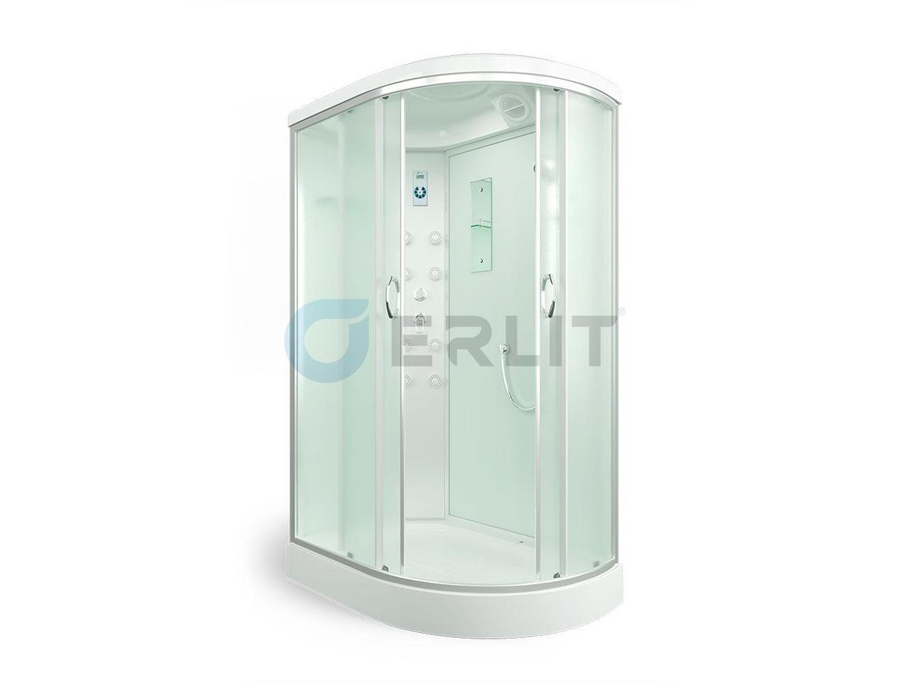 Душевая кабина ER4512PL-C3 1200*800*2150 низкий поддон, светлое стекло, левосторонняя