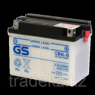 Аккумулятор GS Yuasa CB4L-B (+acidpack, в комплекте с электролитом), фото 2