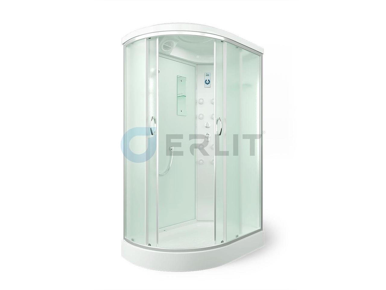 Душевая кабина ER4512PR-C3 1200*800*2150 низкий поддон, светлое стекло, правосторонняя
