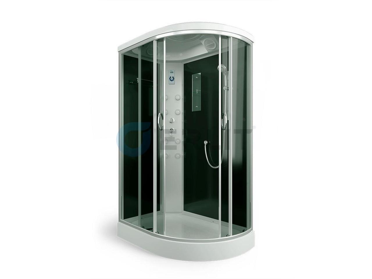 Душевая кабина ER4512PL-C4 1200*800*2150 низкий поддон, тонированное стекло, левосторонняя