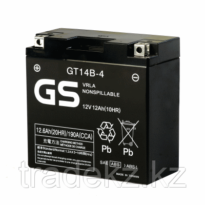 Аккумулятор GS Yuasa GT14B-4, фото 2