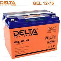 Аккумуляторная батарея Delta GEL 12-75 , фото 1