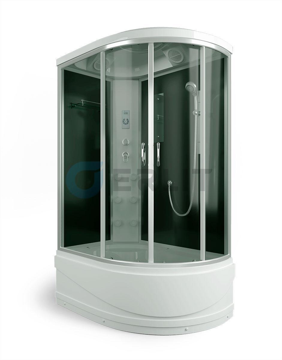 Душевая кабина ER4512TPL-C4 1200*800*2150 высокий поддон, тонированное стекло, левосторонняя