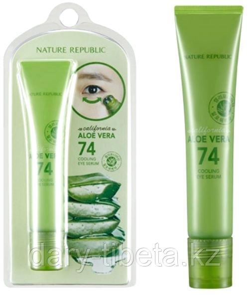 Nature Republic California Aloe Vera 74 Cooling Eye Serum- Сыворотка для век с Алоэ Вера