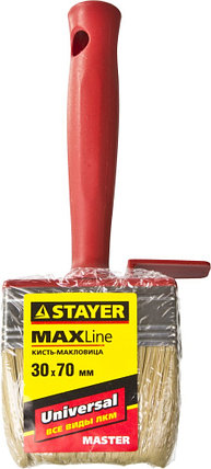 "Макловица STAYER ""MASTER"" UNIVERSAL, светлая щетина, пластмассовый корпус, 3х7см, фото 2"
