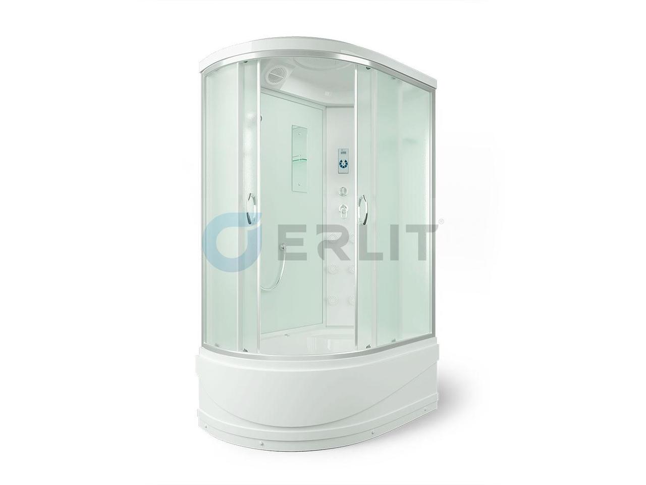 Душевая кабина ER4512TPR-C3 1200*800*2150 высокий поддон, матовое стекло, правосторонняя