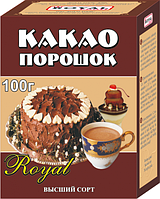 Какао порошок 100 гр, коробочка, Royal Food