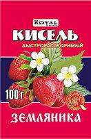 Кисель б/р 100 гр, Земляника, Royal Food