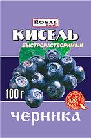 Кисель б/р 100 гр, Черника, Royal Food