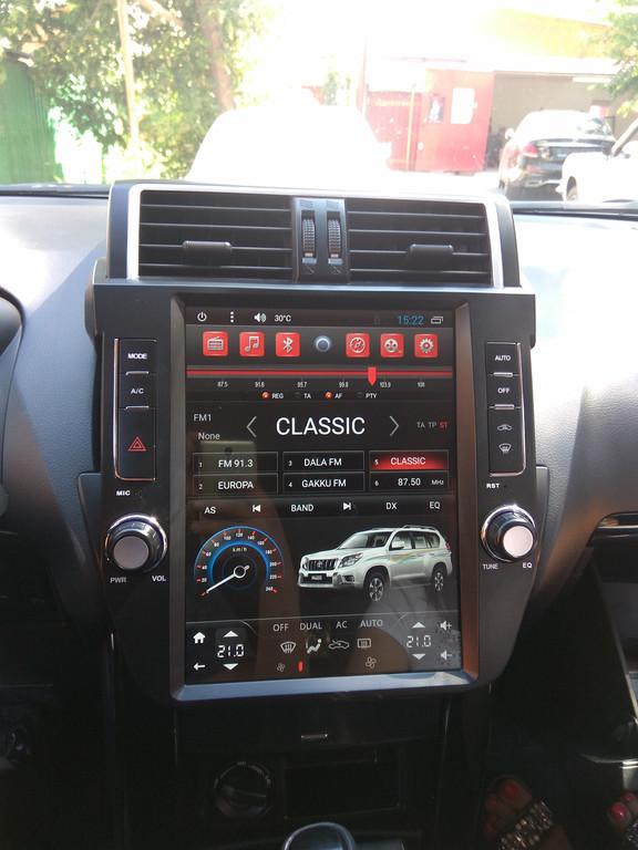 Заменена штатная автомагнитола для Toyota Prado 150 на Android