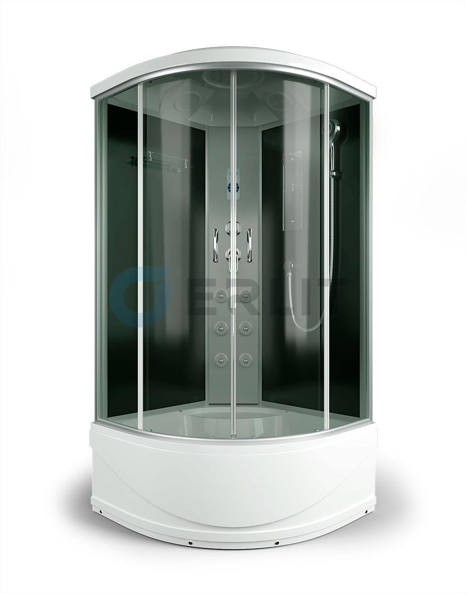 Душевая кабина ERLIT ER4509TP-C4 900*900*2150 высокий поддон, тонированное стекло