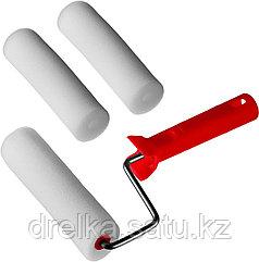 """Валик """"ПОРОЛОН"""" в наборе: 3 шубки + ручка, 140 мм, d=40 мм, MIRAX"""