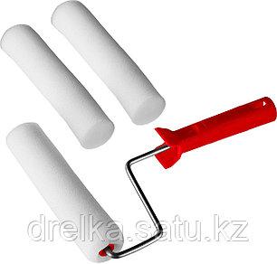 """Валик """"ПОРОЛОН"""" в наборе: 3 шубки + ручка, 180 мм, d=40 мм, MIRAX, фото 2"""