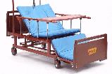 МЕТ REMEKS Медицинская кровать для ухода за лежачими больными с переворотом, туалетом и матрасом, фото 3