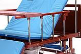МЕТ REMEKS Медицинская кровать для ухода за лежачими больными с переворотом, туалетом и матрасом, фото 4