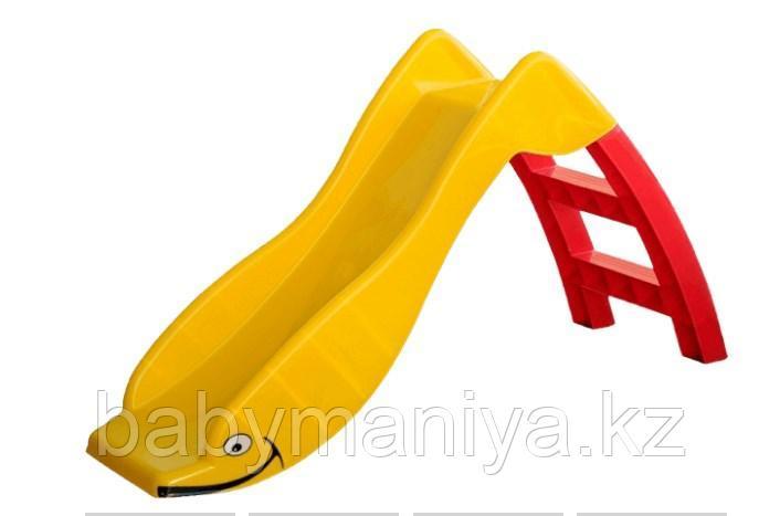 Детская горка Marian Plast  123.5×68×42 см (желтый, красный)