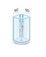 Душевые уголки 90 х 90 см