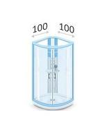 Душевые уголки 100 х 100 см