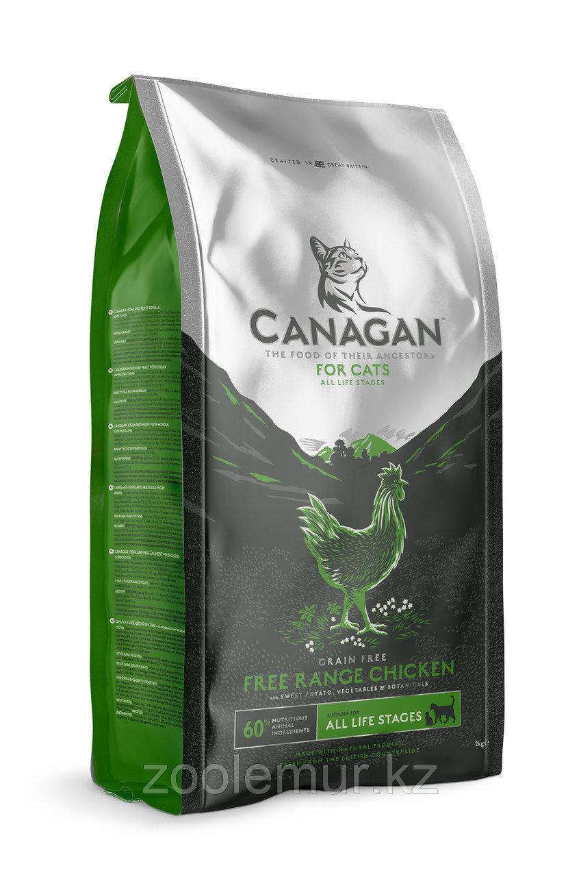 CANAGAN Grain Free, Free-Run Chicken, корм 1,5 кг для кошек всех возрастов и котят, Цыпленок