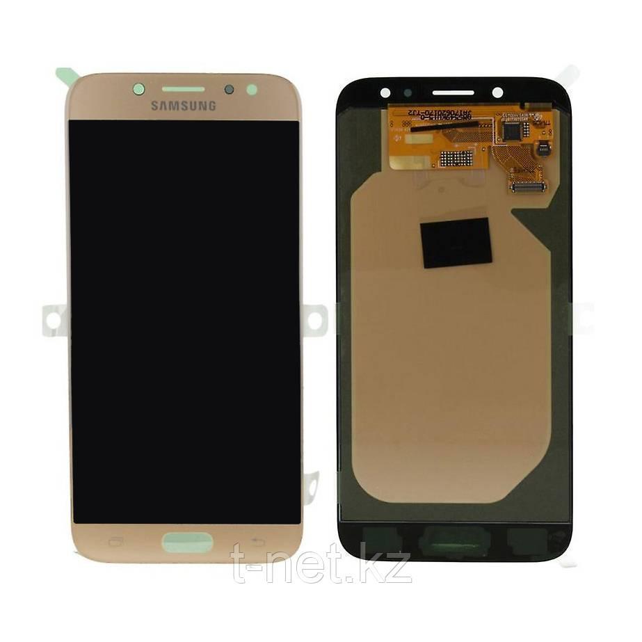 Дисплей Samsung Galaxy J7 (2017) SM-J730 Сервис Оригинал с сенсором, цвет золотистый, качество OLED