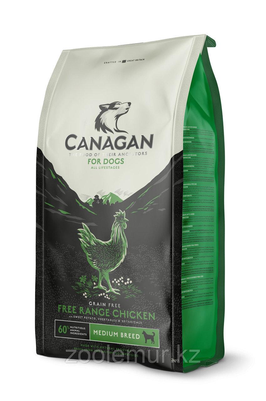 CANAGAN Grain Free, Free-Run Chicken, корм 500г для собак всех возрастов и щенков, Цыпленок