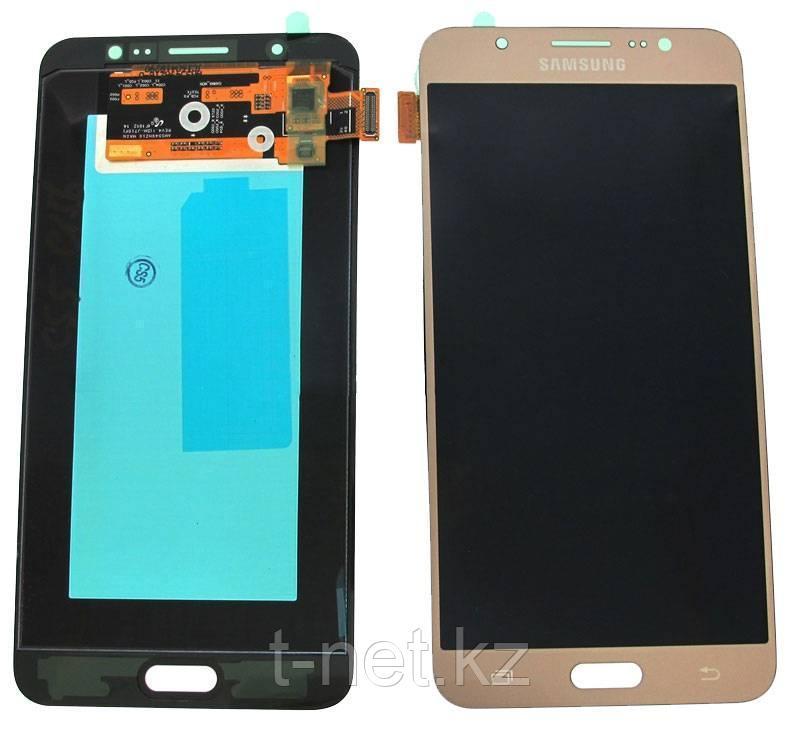 Дисплей Samsung Galaxy J7 Duos (2016) SM-J710 с сенсором, цвет золотистый