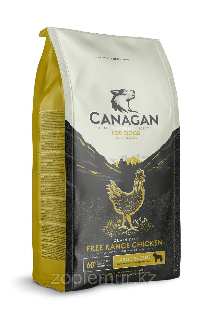 CANAGAN Grain Free, Free-Run Chicken, корм 2 кг для крупных пород собак всех возрастов и щенков, Цыпленок