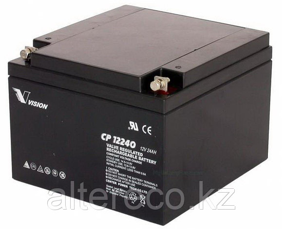 Аккумулятор Vision CP12240 (12В, 24Ач), фото 2