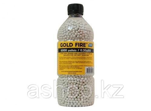 Пластиковые шарики для страйкбольного оружия ASG BB Gold Fire, Калибр: 6,0, 6000 шт., 0,20 г, Цвет: Белый, Упа