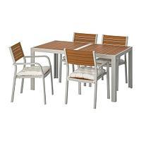 ШЭЛЛАНД Стол+4 кресла, д/сада, светло-коричневый, Куддарна бежевый, фото 1