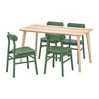 ЛИСАБО / РЁННИНГЕ Стол и 4 стула, фото 1