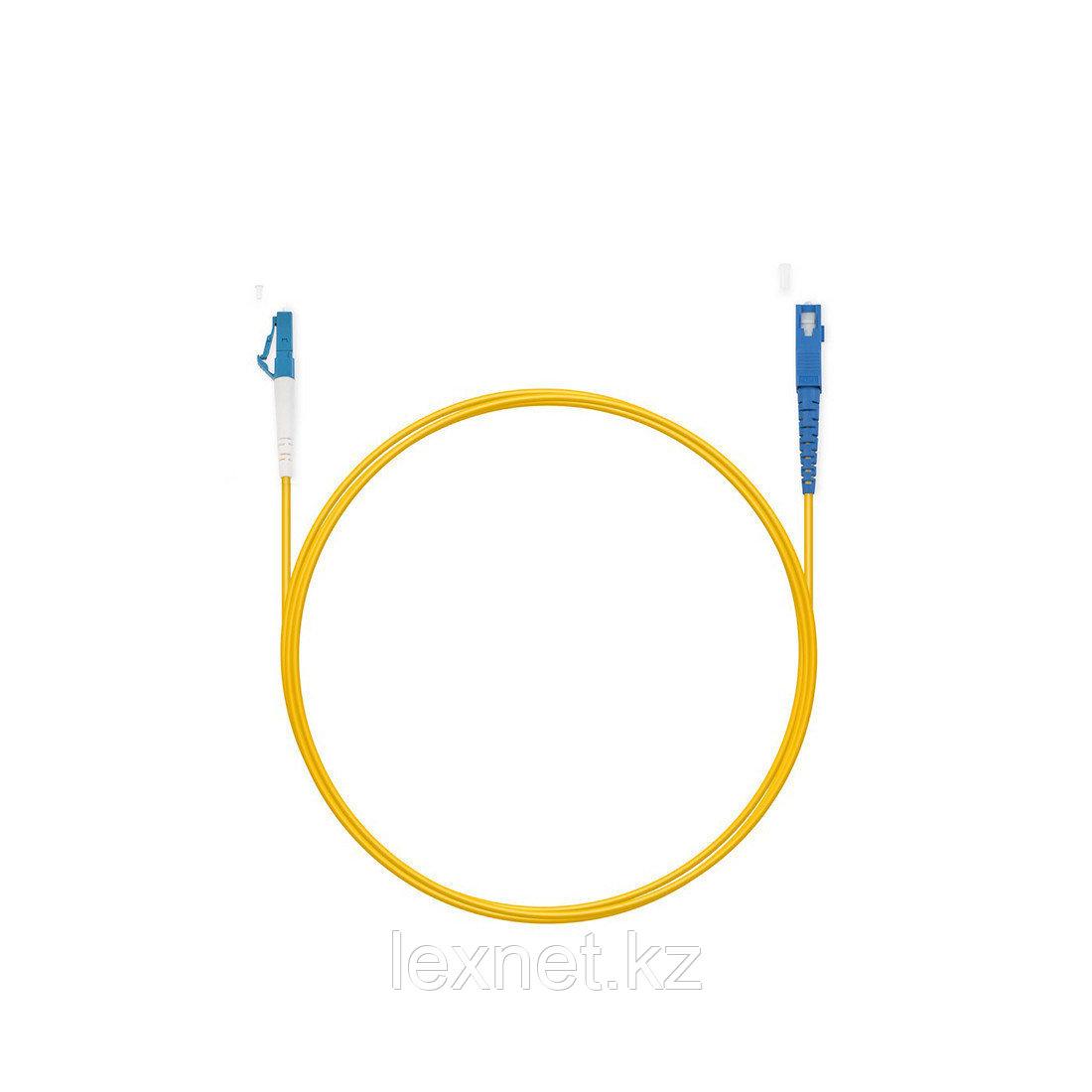 Патч Корд Оптоволоконный LC/APC-ST/UPC SM 9/125 Simplex 3.0мм 1 м