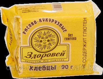 Безглютеновые,безлактозные,без яйца Хлебцы рисово-кукурузные Здоровей, 90 г,пр-во Россия