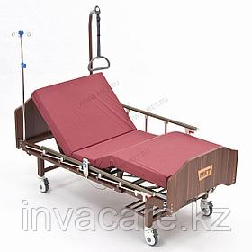MET LANTIS Кровать функциональная медицинская коричневая, спинки темные