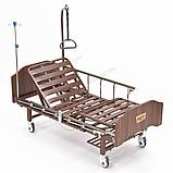 MET LANTIS Кровать функциональная медицинская коричневая, спинки темные, фото 2
