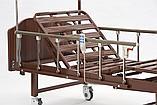 MET LANTIS Кровать функциональная медицинская коричневая, спинки темные, фото 7
