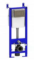 Комплект инсталяции УКЛАД с кнопкой хром + подвесной унитаз Элеганс (с сиденьем микролифт) (КСФ), фото 1