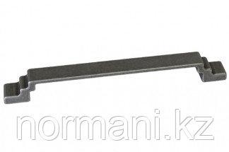 Ручка-скоба 128мм, отделка железо античное черное