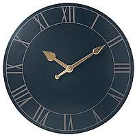 Настенные часы ПОЛЛЕТТ темно-синий ИКЕА, IKEA