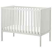 Кроватка детская СУНДВИК белая 60x120 см ИКЕА, IKEA