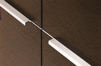 Ручка врезная 446 мм, отделка сталь шлифованная