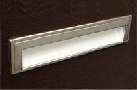 Ручка врезная 192мм, отделка белый глянец + хром глянец