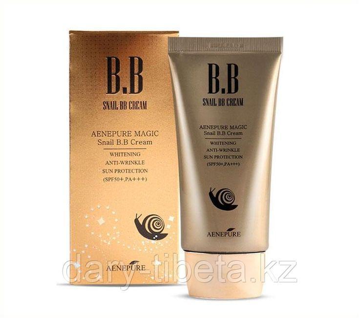 Aenepure Snail BB Cream Spf50 PA Whitening Anti-wrinkle Sun Protection -ББ Крем с экстрактом секреции улитки