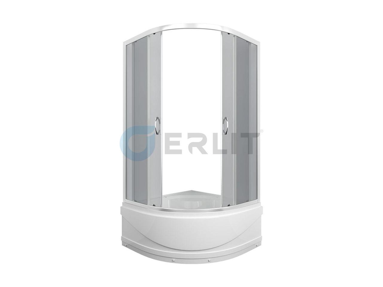 Душевая кабина ER0509T - C4 900*900*1950 высокий поддон, тонированное стекло