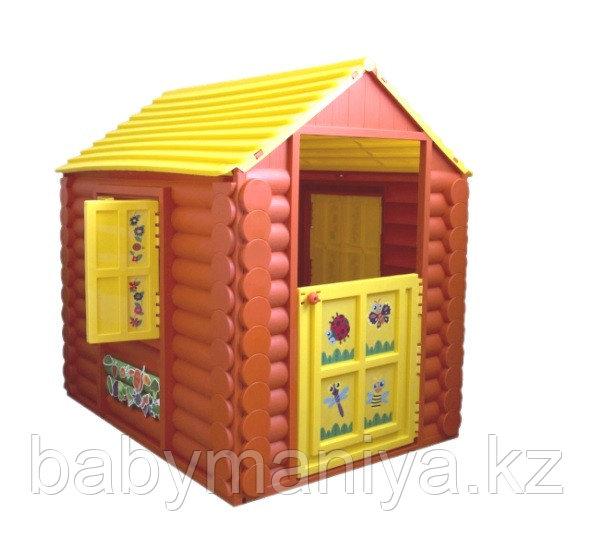 Детский игровой Домик Marian Plast (Palplay) - Лесной Умные липучки  (коричневый, желтый)