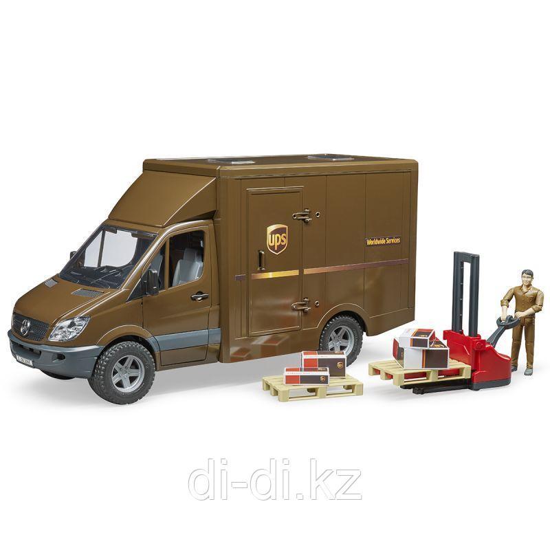 Mercedes-Benz Sprinter фургон UPS с фигуркой погрузчиком и аксессуарами