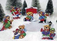 """Набор для вышивания крестом """"Рождественские мишки"""""""