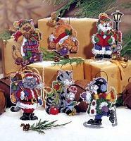 """Набор для вышивания крестом """"Новогодние коты"""""""