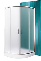 HOUSTON NEO 90 Roltechnik( Чехия ) Радиус. душ. угол стекло мат (4мм)/профиль хром
